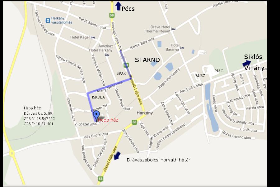 térkép harkány és környéke Heppház Harkány